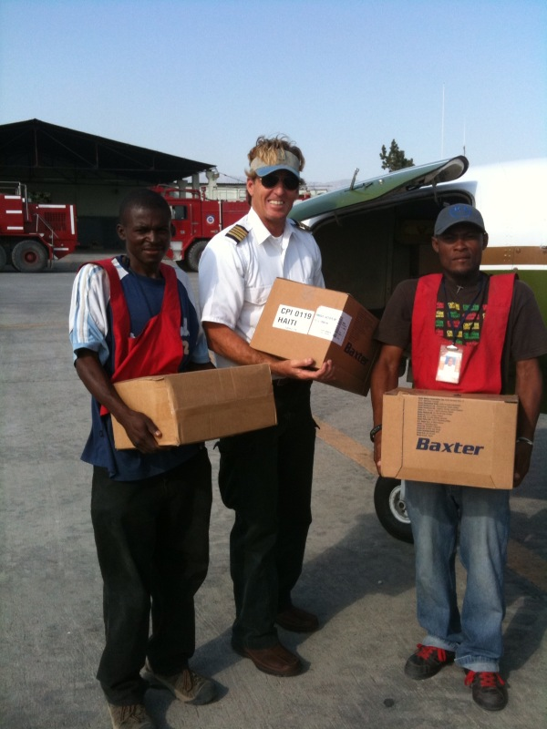 Shipment of medical supplies to Port-au-Prince, Haiti