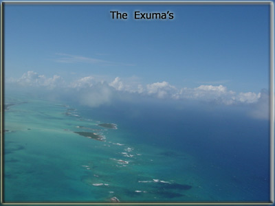 The exuma chain of islands, bahamas